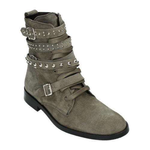 Clic Veterboot 9230 Taupe Suede Bandjes/Studs33-38