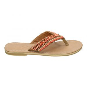 Hot Lava Teenslipper Indy Coral Leather