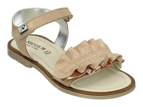 EB Sandaal 0802BB3 Nude Suede/Rose Glitter 28-37