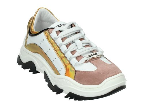 DSQUARED2 Runner 62371 Wit/Goud/Oud Roze 28-40