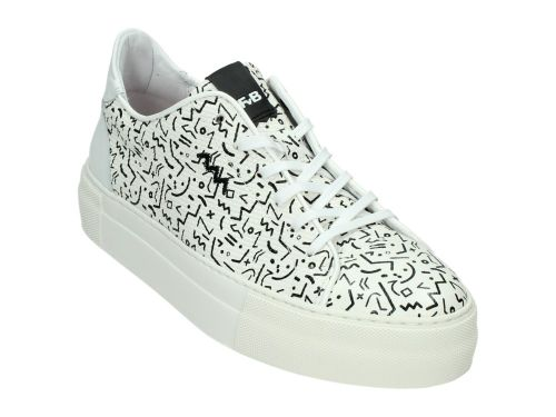 Floris Sneaker 85297/02 Black/White Print 36-41