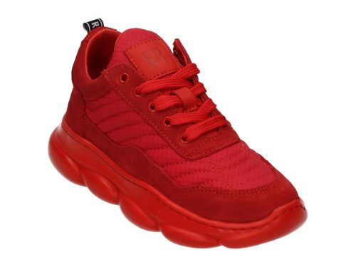 RED-RAG Low Cut Sneaker Laces Red Suede 30-38