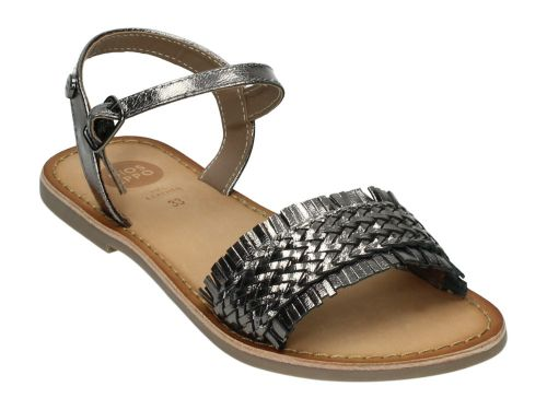 Gioseppo Sandaal SIRACUSA Pewter Leather 32-39